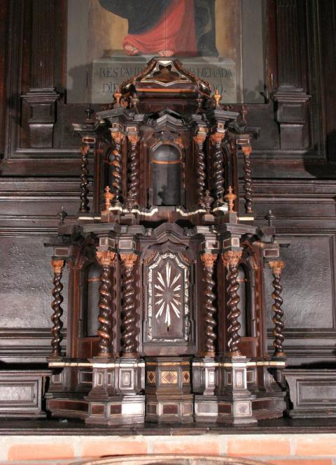 PARTICOLARE altare ligneo san bartolomeo suardi dopo il restauro (ph. KAIROS)