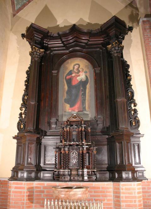 altare ligneo san bartolomeo suardi dopo il restauro (ph. KAIROS)